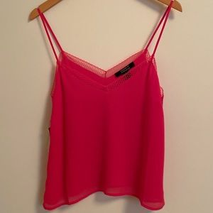 FOREVER 21 Camisole Fuchsia/Pink, Lace, NWT, S